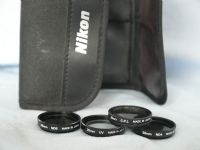 '   28mm x 4 Nikon -NICE CASED SET- ' Nikon 28mm Cased Filters x 4 -RARE- £14.99